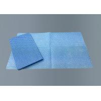 China Foodservice Kitchen Cleaning Wipes Multipurpose Blue Color Economical Low Lint on sale
