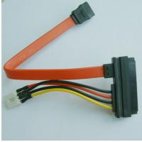 China SATA22P to SATA7P + 4p CD-ROM Cable , 3.5 inch HDD DVD-ROM Power Line 4P/Pin Data Power Wire Power Supply SATA Cable on sale