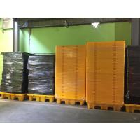 Highly Visible Spill Containment Pallet HDPE For Chemical Oil Tank Manufactures