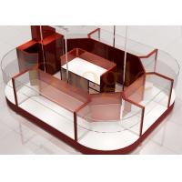 Round Shaped Jewelry Showcase Kiosk / Mall Jewelry Kiosk Wooden 3 Layers Glass Shelf Manufactures
