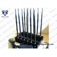 China GSM CDMA High Power Signal Blocker  , 12 Band Cell Phone Signal Jammer on sale