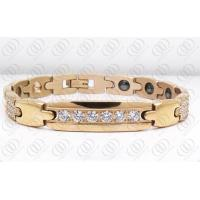 18K Rose Gold Plated Stainless Steel Bracelets With CNC And Hematite Manufactures