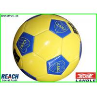 31 Panel Rubber Full Size Soccer Ball Yellow Footballs For Promotion Manufactures