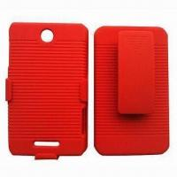 Combo Phone Case for ZTE x500, with Swivel Belt Clip Manufactures