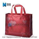 Red Aluminum film wholesale cheap ultrasonic custom logo print 100gsm  non woven shopping bag Manufactures