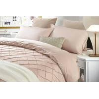Light Pink Pleat Cotton Duvet Cover Sets Double Queen King