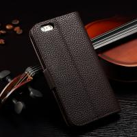 Joint Litchi IPhone Leather Wallet Case For Iphone 6 Plus Paint Oil Business Style Manufactures