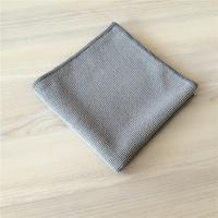 Grey Microfiber Extra Thickness Pearl Cloth Car Cleaning Cloth 400gsm Manufactures