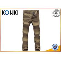 Comfortable Mens Custom Pants Anti - Wrinkle With Polyester / Cotton Material Manufactures