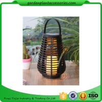 Exterior Rattan Solar Lights , Solar Powered Yard Lights With 2V / 40MA Solar Panel Manufactures