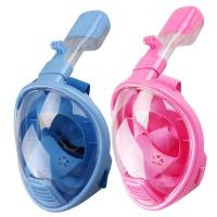 Nylon Strap Head Full Face Snorkel Mask Panoramic Visibility For Child LM01F Manufactures