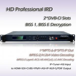 Digital TV IPTV Headend DVB-S/S2 Receiver H.264 HD Decoder HDMI HD-SDI Video Output Manufactures