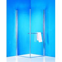 China Stainless Handle 900 × 900 Shower Enclosure Pivot Glass Shower Doors With Towel Rack on sale
