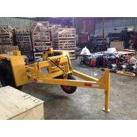 3 Ton Underground Cable Tools Wire Spool Trailer With Over Run Brake System Manufactures
