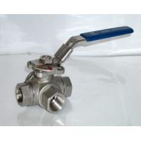 Quality Three Way Ball Valve,thread ball valve,tee ball valve for sale
