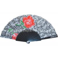 Transfer Printing Fabric Hand Fan For Advertising ,  Souvenirs Varied Design Manufactures