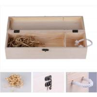 China Printed Single Wooden Wine Case 350*100*110mm Size , Wooden Wine Gift Box on sale
