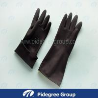 Smooth Latex Industrial Gloves Double Color With Long Sleeve Manufactures