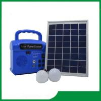 10w portable mini solar home lighting kits with mobile charger, FM radio, MP3 Manufactures