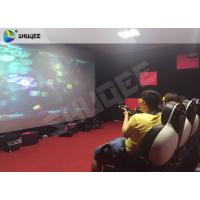 Striking Amusement 7D Movie Theater With Gun Playing , Motion Chair Manufactures