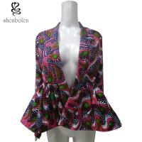 Customized Size Female Latest Ankara Tops And Jackets With Two Side Pockets Manufactures