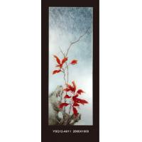 Handcarved decorative frosted glass wall panel for living for Decorative tempered glass panels