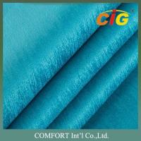 China Width 145cm Backing TC Sofa Upholstery Fabric Roll / Polyester Velvet Fabric on sale