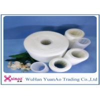 Raw White Virgin 100 Polyester Yarn Z Twist Good Evenness for Sewing Manufactures