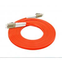 62.5 / 125 Fiber Optic Patch Cord LC LC 3.0mm Customized Length Orange Color Manufactures