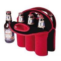 Low price durable printed neoprene bottle wine cooler tote bags for 3-6pack Manufactures