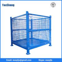 Powder Coated Foldable Storage Cage 500kg - 2000kg Warehouse Wire Mesh Cage Manufactures