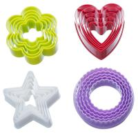 Plastic Colorful Cookie Cutter Set - 20 Piece 3D Bakeware Cookie Tools Set Manufactures