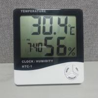 China New Digital Desk Thermometer with clock hygrometer HTC-1 on sale