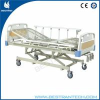 China Modern Manual Adjustable Hospital Beds With Rails , Three Crank Bed on sale