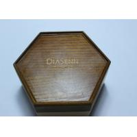 Dark Solid Wood Standing Jewelry Box , Gift Wood Hexagon Shaped Box Manufactures