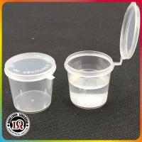 China Clear Shot Plastic Portion Cup With Lid on sale