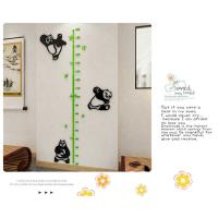 Hot sale kids growth chart ,kids height measurement wall sticker acrylic material Measure the children Height Wall stick Manufactures