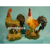 China Polyresin Garden Roosters Statue on sale