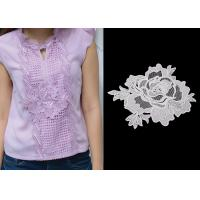 3D Flower Lace Trim Custom Guipure Embroidery Lace Collar Applique With OEKO-Tex Manufactures