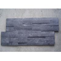 Black Natural Slate Artificial Culture Stone Bathroom Wall Cladding Tile 600x150mm Manufactures