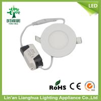 High Performance 240lm 3 Watt Round LED Panel Downlight 6500K White Manufactures