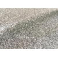 Customized Mid - Grey Wool Suiting Fabric Anti Static Environment Friendly Manufactures