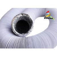 Quality Black And White Fire Rated Flexible Ducting , Round PVC / Aluminum Foil Combine for sale