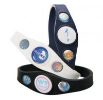 Power Custom Silicone Bracelets Silicone Balance Bracelet 3 Holograms Manufactures
