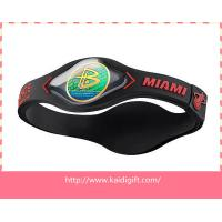 China 3D Healthy Power Energy Silicone Bracelet on sale