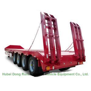 Gooseneck Transportion Heavy Duty Heavy Machine Lowbed Semi Trailer 40 ton ,60ton,80Ton Manufactures