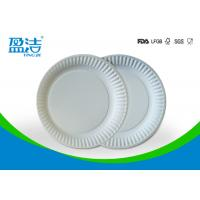 Small Size Bulk Paper Plates , Plain White Paper Plates Without Printing Manufactures