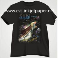 China 190gsm dark color Iron on Inkjet T-shirt transfer paper for 100% cotton material on sale