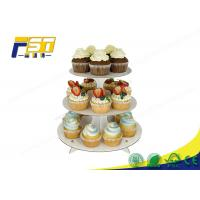 Round Cardboard Cake Display 3 Layers 100% Recycling For Wedding Birthday Parties Manufactures