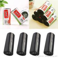 China High quality factory price black plastic bag/trash bag HDPE can liners on roll on sale
